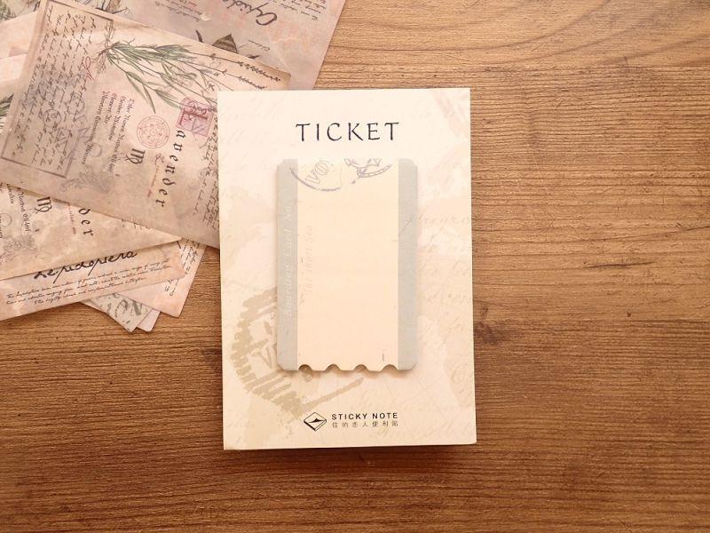 画像1: 【ネコポスOK】 STICKY NOTE/付箋 TICKET D
