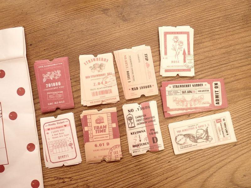 画像1: 【ネコポスOK】 rose ticket 45枚入り