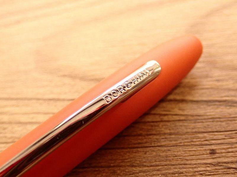 画像2: 【ネコポスOK】イタリア BORGHINI/ボルギーニ V5 REシリーズ ボールペン マットオレンジ
