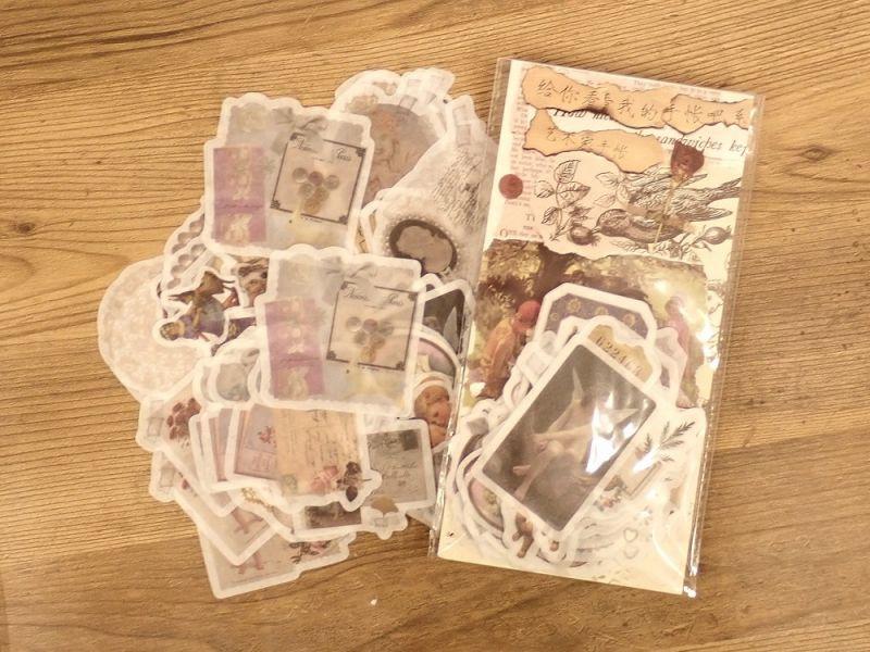 画像1: 【ネコポスOK】 ダイカット 和紙ステッカー 天使