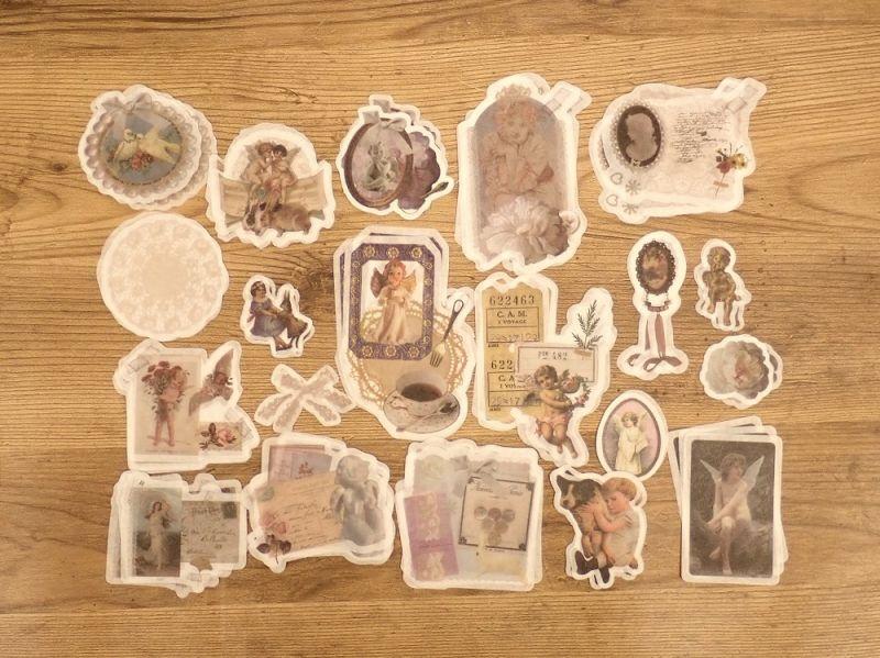 画像2: 【ネコポスOK】 ダイカット 和紙ステッカー 天使