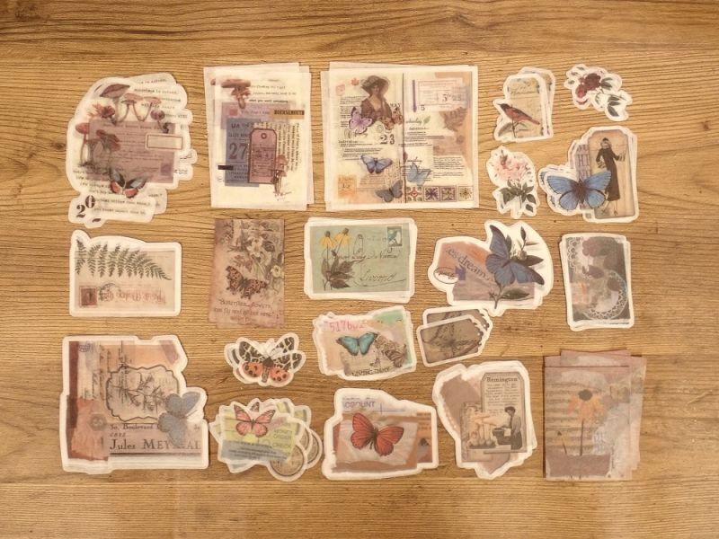 画像2: 【ネコポスOK】 ダイカット 和紙ステッカー 蝶