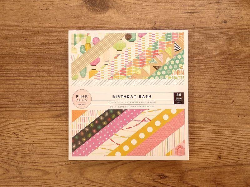 画像1: 【ネコポスOK】 American Crafts ペーパーパッド BIRTHDAY BASH