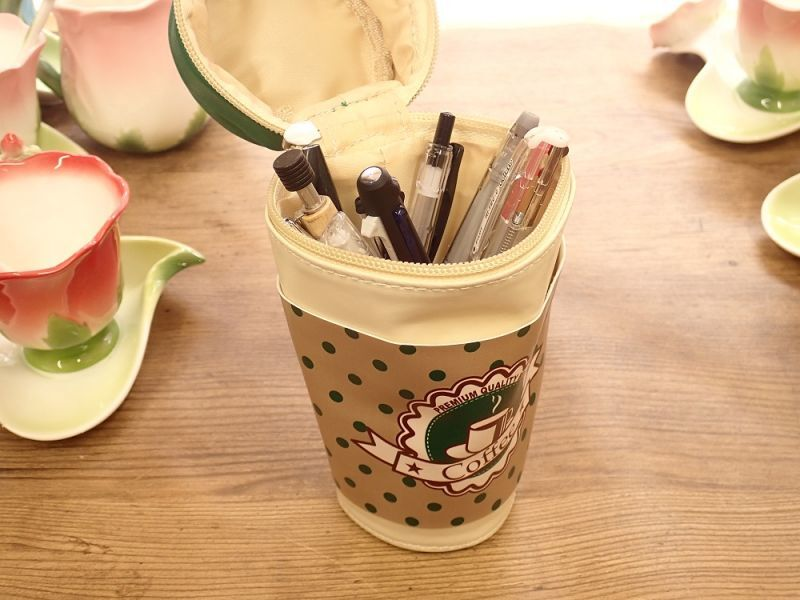 画像2: 【ネコポスNG】 コーヒータンブラーポーチ グリーン