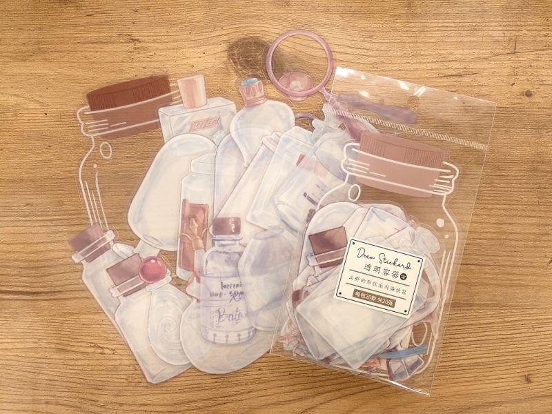 画像1: 【ネコポスOK】 PETシール コレクションシリーズ 瓶