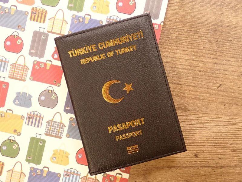 画像1: 【ネコポスOK】 パスポートカバー REPUBLIC OF TURKEY