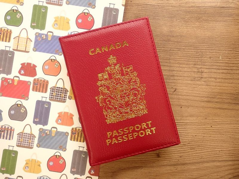 画像1: 【ネコポスOK】 パスポートカバー CANADA