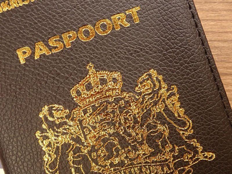 画像2: 【ネコポスOK】 パスポートカバー オランダ ブラック