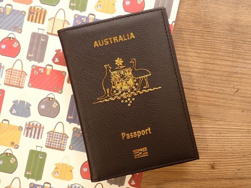 画像1: 【ネコポスOK】 パスポートカバー AUSTRALIA