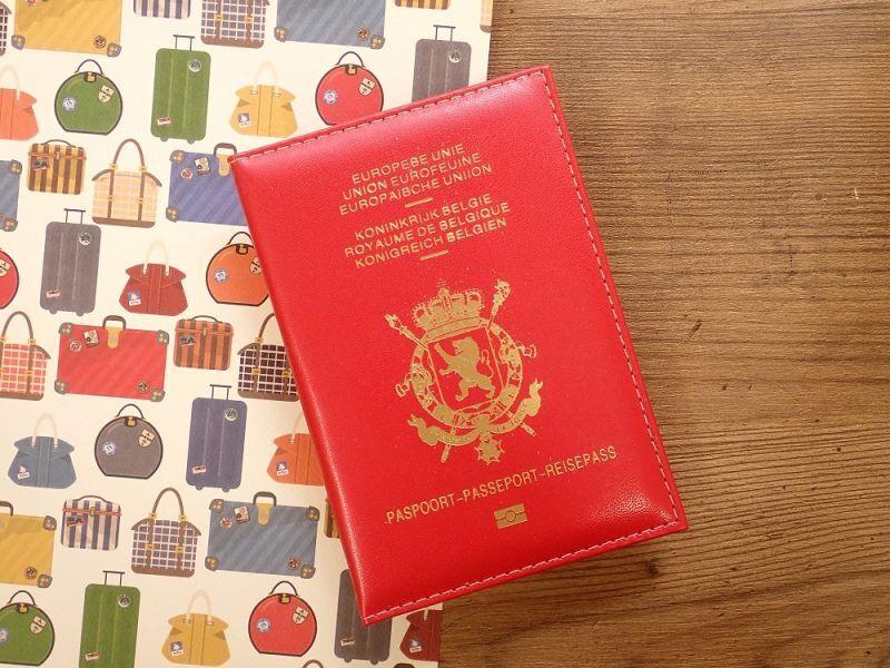 画像1: 【ネコポスOK】 パスポートカバー BELGIEN レッド