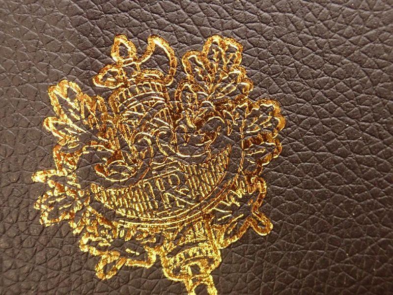 画像2: 【ネコポスOK】 パスポートカバー フランス ブラック