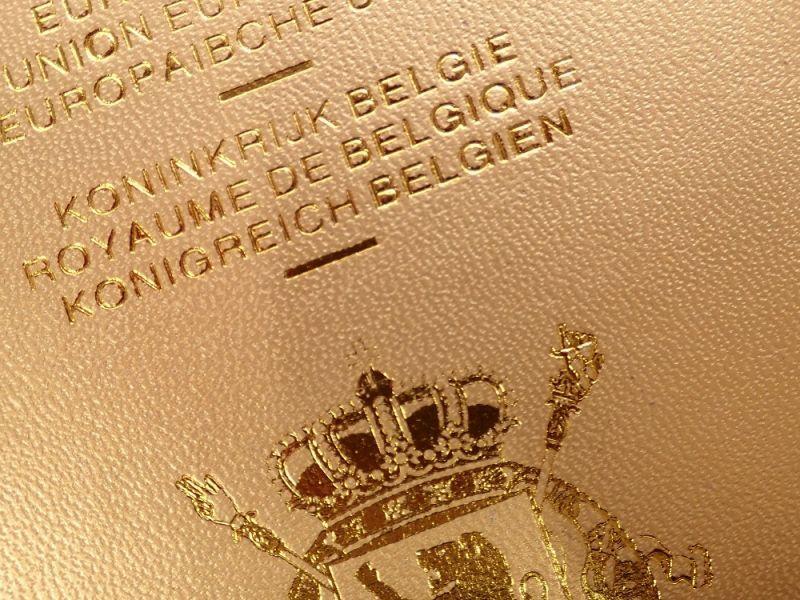 画像2: 【ネコポスOK】 パスポートカバー BELGIEN ゴールド