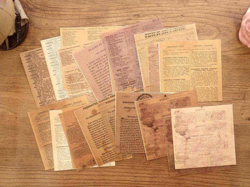 画像2: 【ネコポスOK】 ANTIQUE OLD NEWSPAPER 古新聞シリーズ C