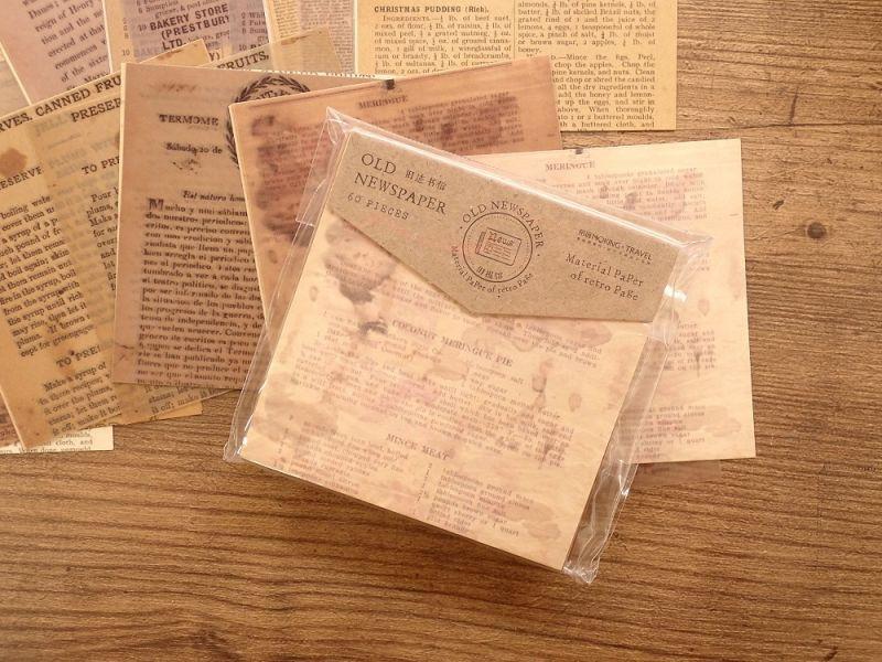 画像1: 【ネコポスOK】 ANTIQUE OLD NEWSPAPER 古新聞シリーズ C