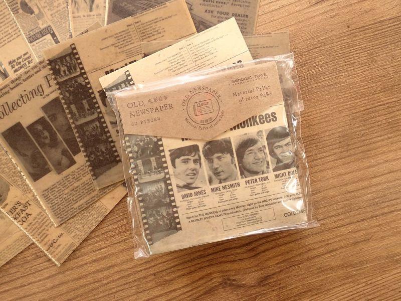 画像1: 【ネコポスOK】 ANTIQUE OLD NEWSPAPER 古新聞シリーズ E