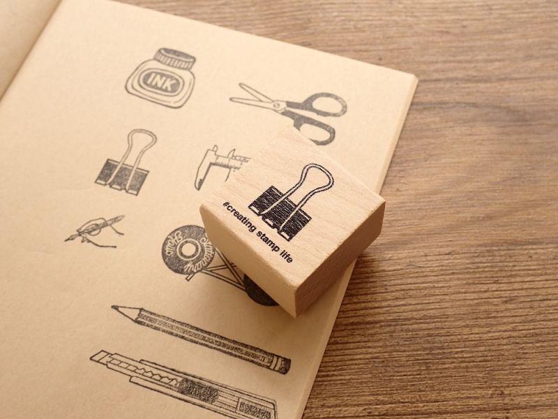 画像1: 【ネコポスOK】 I love stamp series クリップ