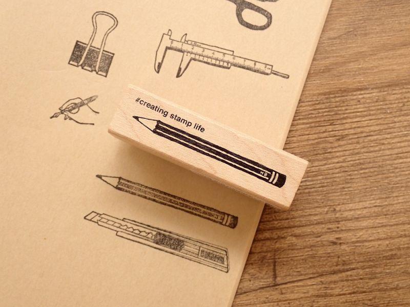 画像1: 【ネコポスOK】 I love stamp series 鉛筆