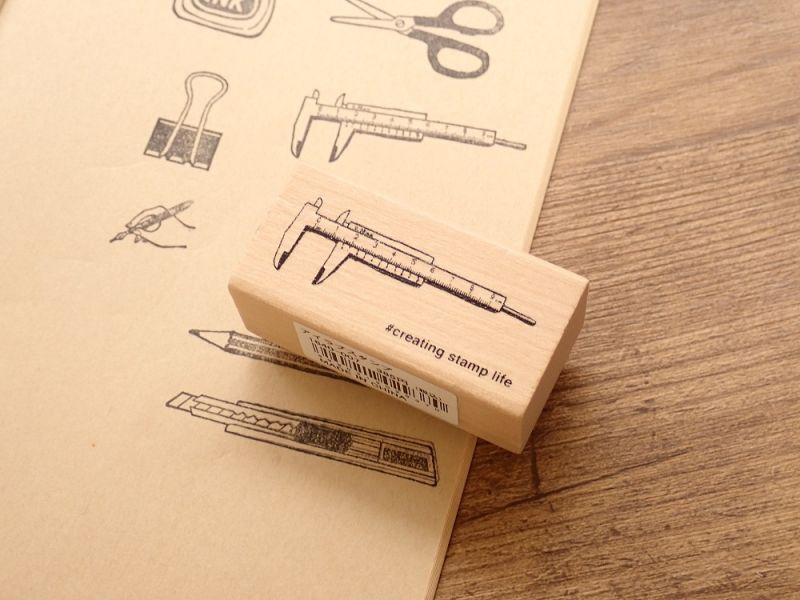 画像1: 【ネコポスOK】 I love stamp series ノギス