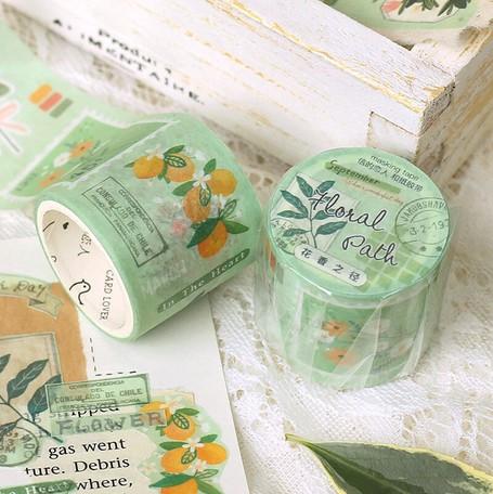 画像3: 【ネコポスNG】マスキングテープ 花束シリーズ グリーン(1個)